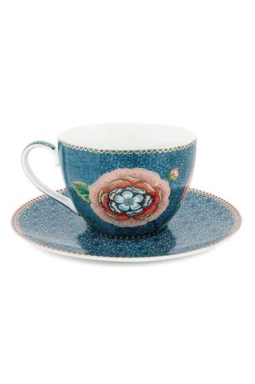 Spring to Life Cappuccino Kop & Schotel Blauw