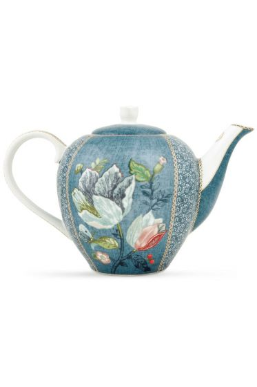 Spring to Life Teapot Blue