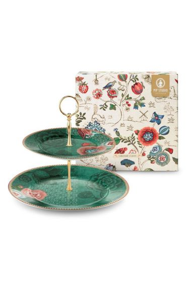 Spring to Life Cake Stand Green