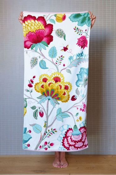 Floral Fantasy XL Towel White