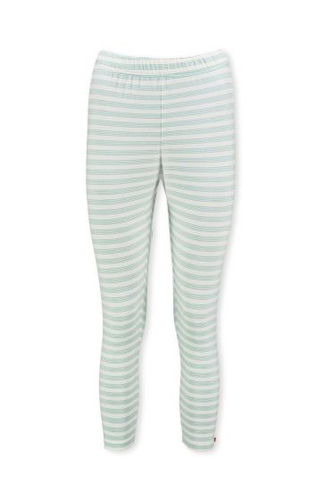 Dreiviertellange Leggings Mini Stripe Hellblau
