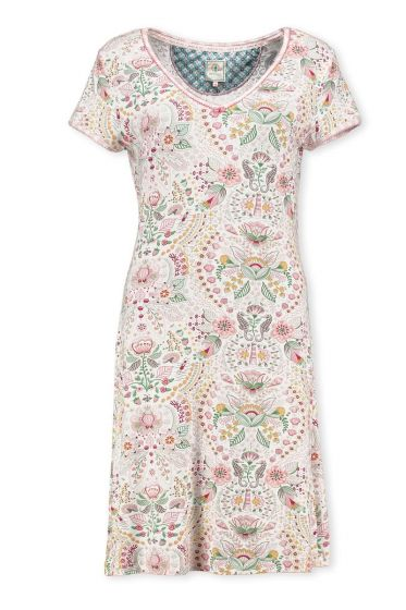 Short Sleeve Night Dress Sea Stitch Pink