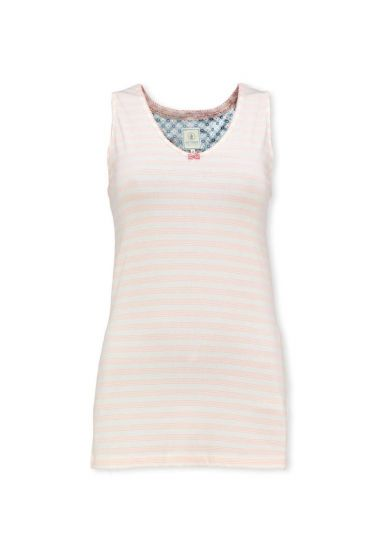Sleeveless Top Mini Stripe Light Pink