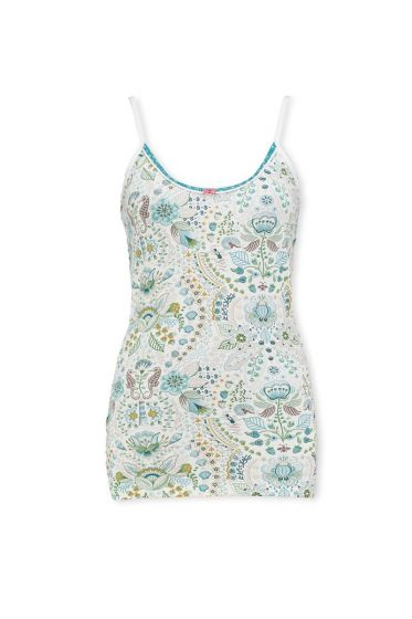 Sleeveless Top Sea Stitch Blue