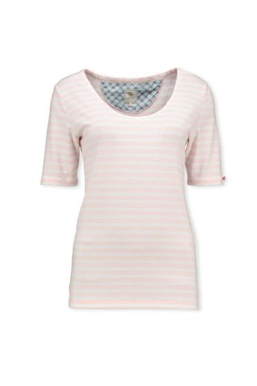 T-Shirt Mini Stripe Lichtroze