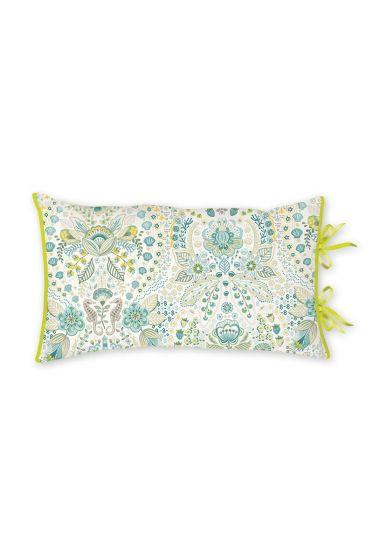 Cushion Rectangle Sea Stitch Blue