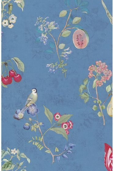 Cherry Pip wallpaper blue