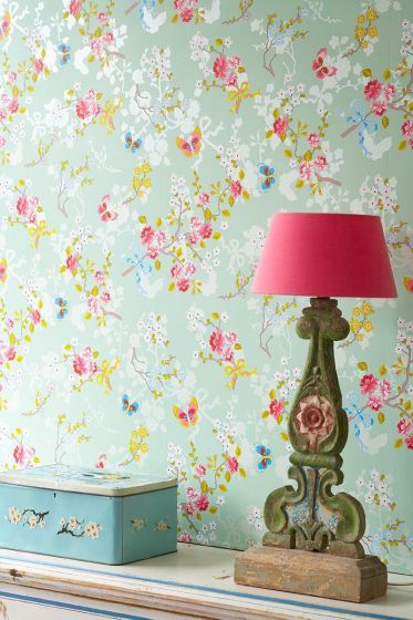 behang-vliesbehang-bloemen-vlinder-zacht-groen-pip-studio-chinese-rose