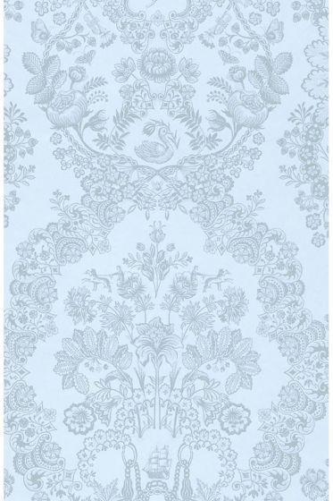 Lacy Dutch wallpaper light blue