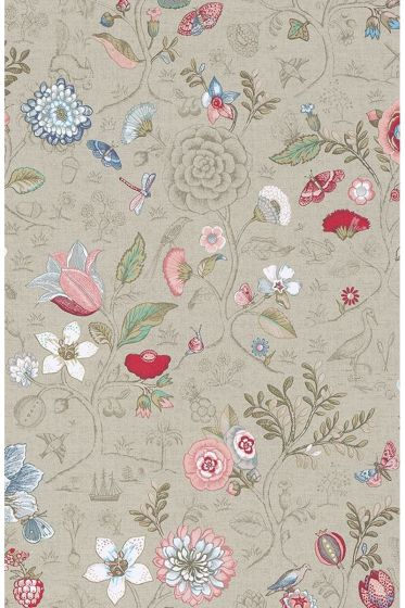 Pip Studio Spring to Life wallpaper khaki