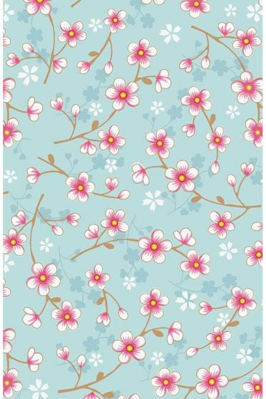 Cherry Blossom wallpaper blue