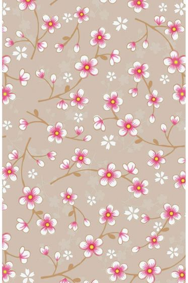Cherry Blossom wallpaper khaki