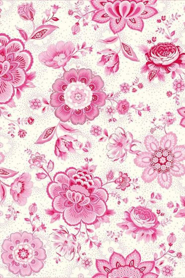 Folklore Chintz Tapete rosa