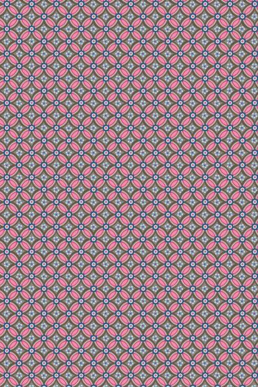 Geometric wallpaper brown pink