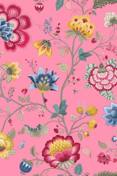 Floral Fantasy wallpaper light pink