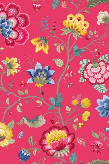 Floral Fantasy wallpaper raspberry