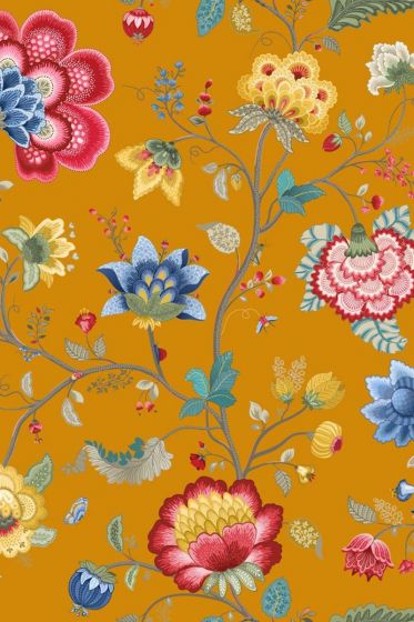 Floral Fantasy wallpaper yellow