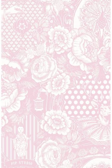 Deerest Peacock wallpaper baby pink