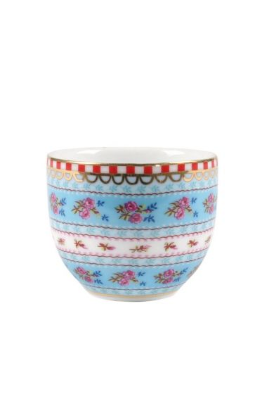 Floral egg cup blue