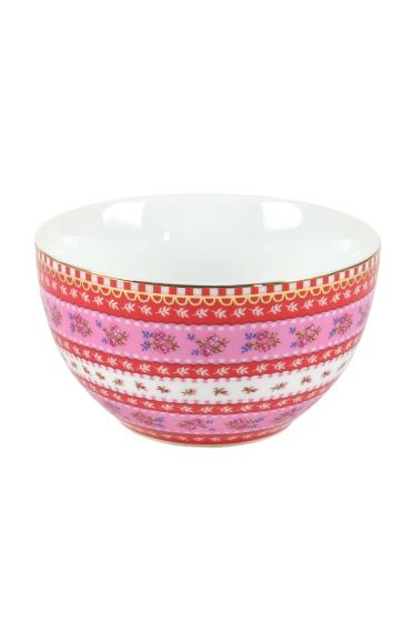 XS Floral bowl red