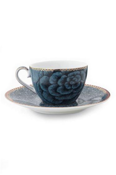 Spring to Life Espresso Tasse & Untertasse Blau