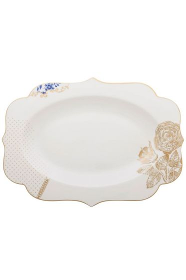 Royal White Oval Servierschalen 40 cm