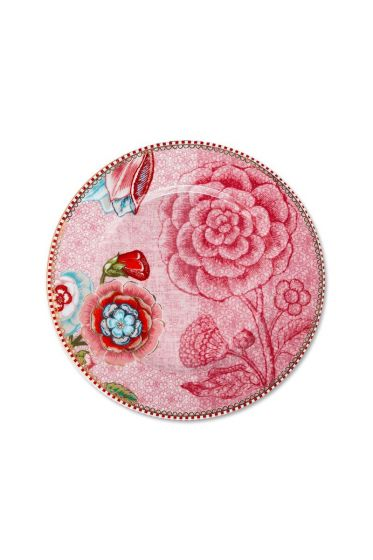 Spring to Life Cake Plate 17 cm Pink
