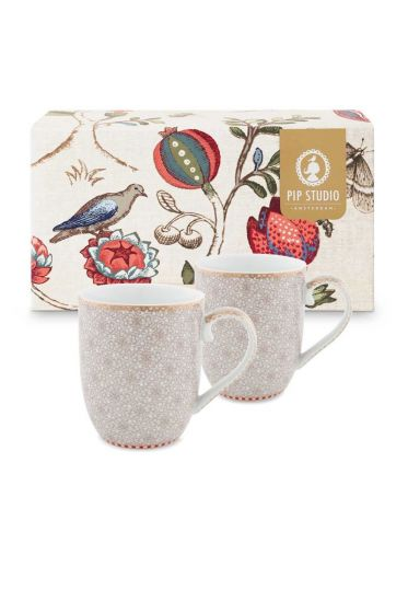 Spring to Life Gift set 2 Mugs Small Off white