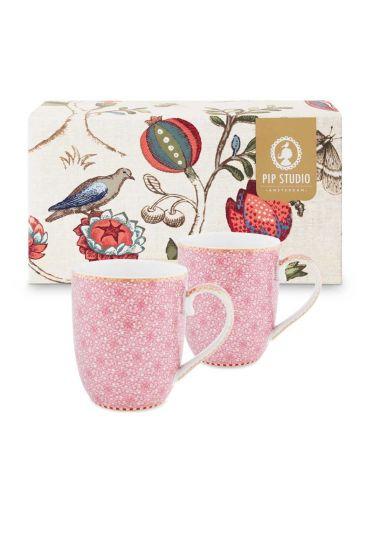 Coffret 2 Petit mug Flo Spring to Life Rose