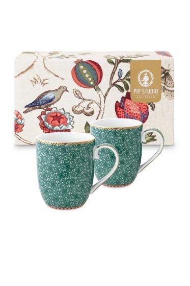 Coffret 2 Petit mug Flo Spring to Life Vert