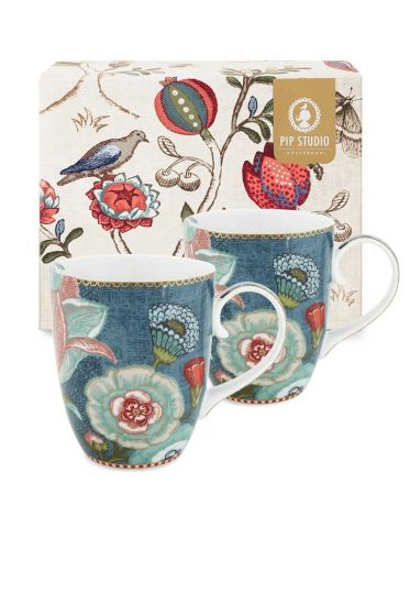Spring to Life Gift set 2 Mugs Large Blue