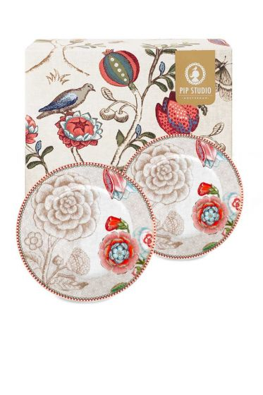 Spring to Life Gift set 2 Cake Plates Off White