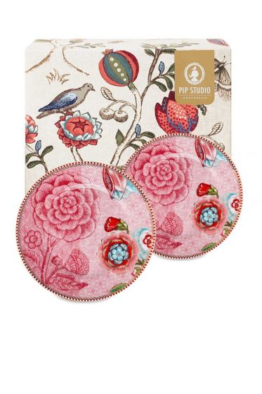 Spring to Life Gift set 2 Cake Plates 17 cm Pink