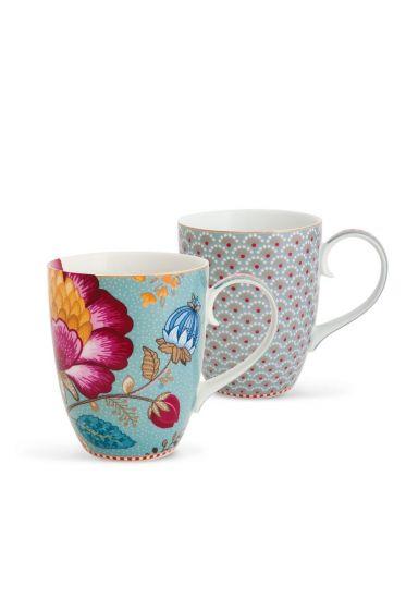 Floral Fantasy Bloomingtales Set/2 Tassen groß blau