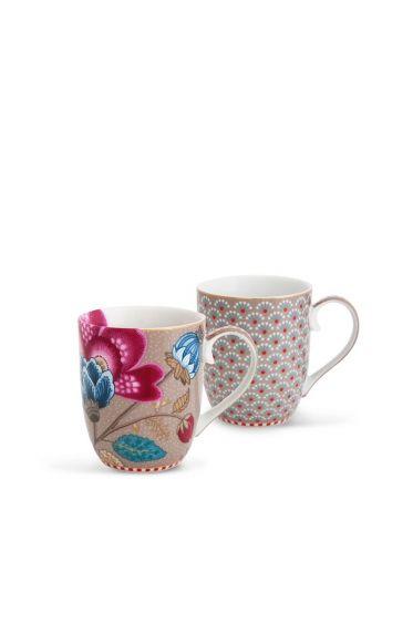Floral Fantasy Bloomingtales Set/2 Tassen klein khaki