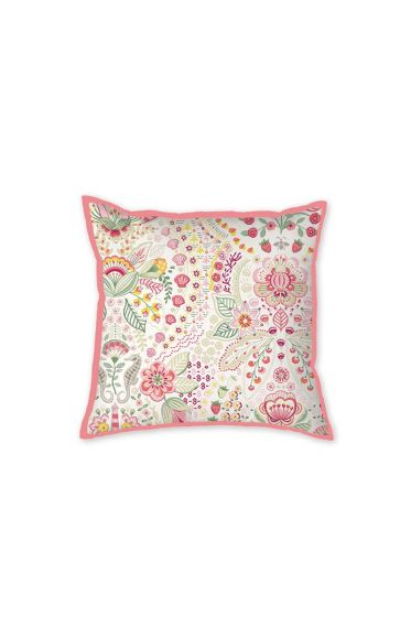 Cushion Square Sea Stitch Pink