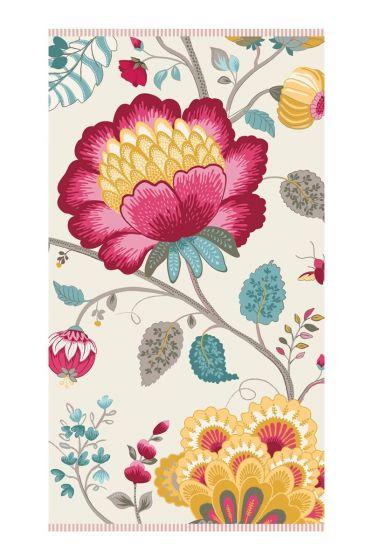 Floral Fantasy Handdoek Wit