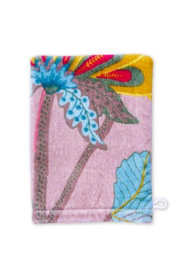Floral Fantasy Washcloth Khaki