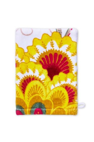 Floral Fantasy Washcloth White
