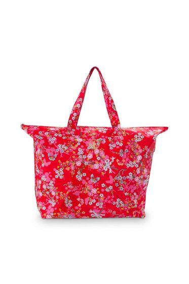 Pip Classic Beachbag Chinese Blossom Rood
