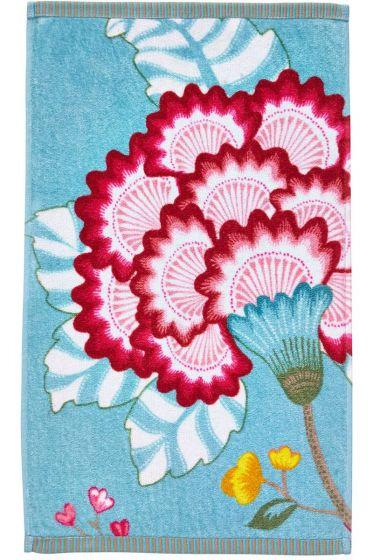 Floral Fantasy Gästetuch Hellblau