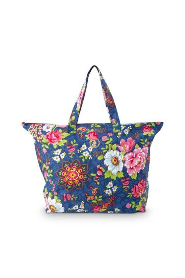 Pip Classic Beach Bag Flowers in the Mix Blue