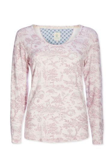Top longsleeve Hide and Seek pink