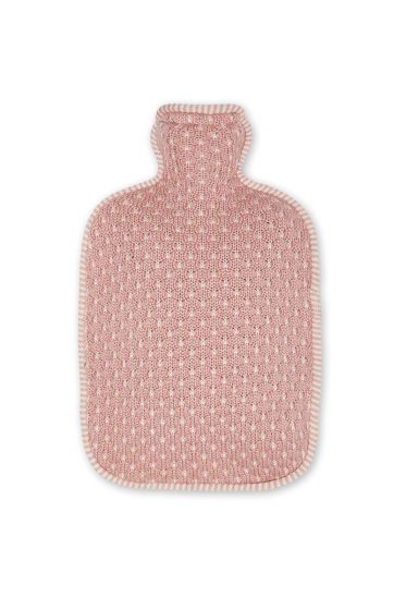 Hot water bottle cover Cosy knitted pink