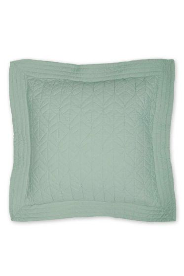 Cushion Leaves Quilty square green