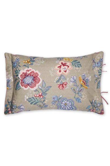 Cushion Berry Bird rectangle khaki