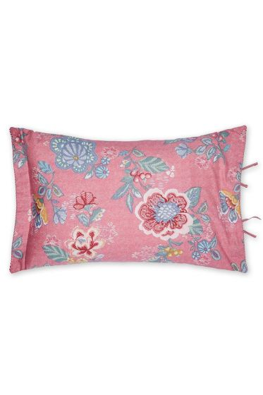 Cushion Berry Bird rectangle pink