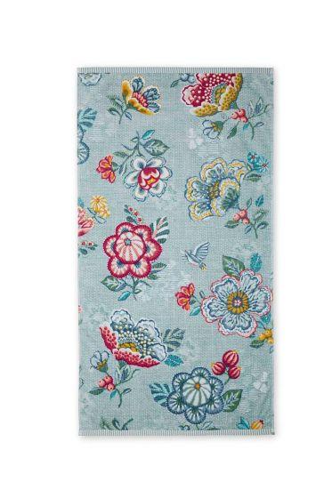 Bath towel Berry Bird blue