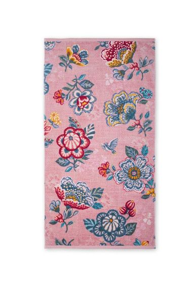 Bath towel Berry Bird pink
