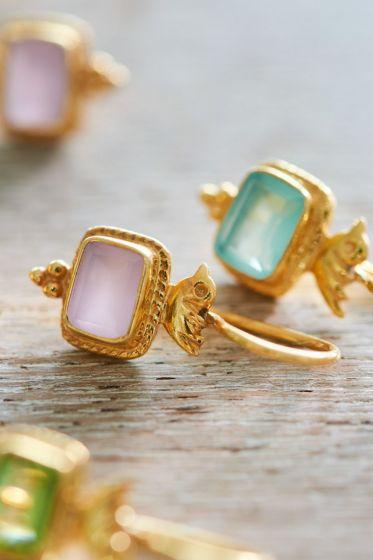 Earrings goldplated Pip's Bird Blue